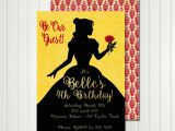 Belle Birthday Party Invitations Belle Invitation Belle Silhouette Belle Birthday Belle