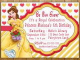 Belle Birthday Party Invitations Belle Invitation Disney Princess Belle Party Invitations