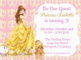Belle Birthday Party Invitations Princess Belle Beauty the Beast Invitation Kid 39 S