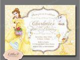 Belle Birthday Party Invitations Princess Belle Birthday Party Printable Invitations