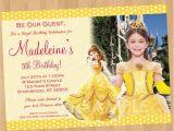 Belle Birthday Party Invitations Princess Belle Invitation Beauty and the Beast Invitation