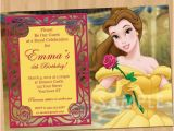 Belle Birthday Party Invitations Princess Belle Invitation Beauty and the Beast Party