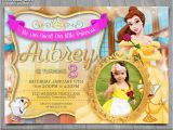 Belle Birthday Party Invitations Princess Belle Invitation Disney Beauty and the Beast Invite