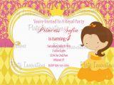 Belle Birthday Party Invitations Printable Princess Belle Birthday Party Invitation Plus Free