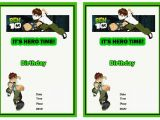 Ben 10 Birthday Invitation Cards Templates Ben 10 Birthday Invitations Birthday Printable