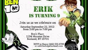 Ben 10 Birthday Invitation Cards Templates Ben 10 Inspired Birthday Invitation Card Party Ideas