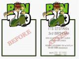 Ben 10 Birthday Invitation Cards Templates Stefansecz Memorable Excursions November 2014