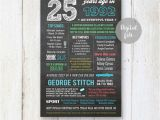 Best 25th Birthday Gifts for Him Personalized 25th Birthday Gift Idea for Him Boyfriend Best