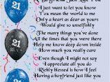 Best 40th Birthday Gifts for Boyfriend Personalised Poem Print 21st Birthday Design Boyfriend
