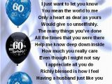 Best 60th Birthday Gifts for Husband Fridge Magnet Personalised Husband Poem 60th
