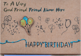 Best Birthday Card Ever Written Write Name On Birthday Card for Best Friends Happy
