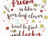Best Free E Birthday Cards Uk Best Friend Like Four Leaf Clover Birthday Card Cards