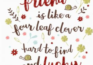 Best Free E Birthday Cards Uk Friend Like Four Leaf Clover Card