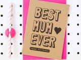 Best Free E Birthday Cards Uk Best Mum Ever Happy Birthday 39 Mum Birthday Card by Scissor