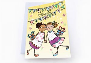 Best Free E Birthday Cards Uk Happy Friend Bff Greeting Card Multicultural