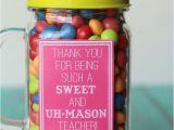Best Gift for Teacher On Her Birthday Sweet and Uh Mason Teacher Gift Ideas Free Prints On