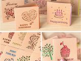 Best Place to Buy Birthday Cards Aliexpress Com Buy Folding Mini Greeting Card Colored