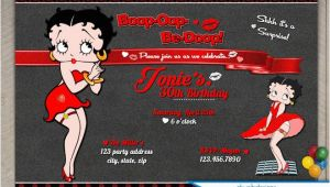 Betty Boop Birthday Invitations Betty Boop Birthday Invitations Adult Birthday Invitations