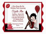 Betty Boop Birthday Invitations Betty Boop Birthday Party Invitation 60th Party
