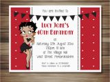 Betty Boop Birthday Invitations Betty Boop Party Invitations All Occasions All Colours