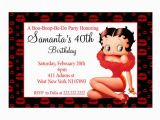 Betty Boop Birthday Invitations Personalized Betty Boop Birthday Party Invitation Printable