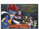 Beyblade Birthday Invitation Template 30 Off Sale Digital Beyblade Printable Birthday Party by