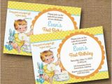 Bible Verse for 1st Birthday Invitations Baby 39 S First Birthday Invitation Diy Printable Quot Vintage