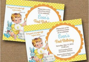 Bible Verse For 1st Birthday Invitations Baby 39 S First Invitation Diy Printable Quot Vintage