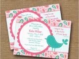 Bible Verse for 1st Birthday Invitations Bird Baby Shower Invitation Baby Girl Shower Invite