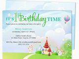 Bible Verse for 1st Birthday Invitations Kiddie Landscape 1st Birthday Party Invitation Templates