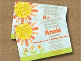 Bible Verse for 1st Birthday Invitations Little Sunshine Birthday Party Invitation Diy Printable