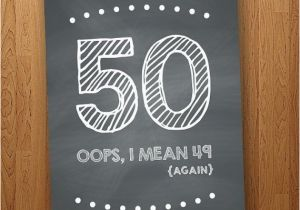 Big 50th Birthday Cards Sale Funny Card Diy Instant By