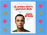 Big Bang theory Birthday Card Items Similar to the Big Bang theory Card Funny Birthday