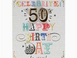 Big Birthday Cards Hallmark Hallmark 50th Birthday Card 39 Here 39 S to You 39 Large at