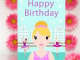 Big Birthday Cards In Stores Ballerina Girl Large Birthday Card Colour their Day