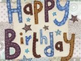 Big Birthday Cards In Stores Stars Happy Birthday Card Large Luxury Birthday Card