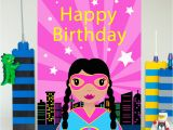 Big Birthday Cards In Stores Superhero Girl Large Birthday Card Colour their Day