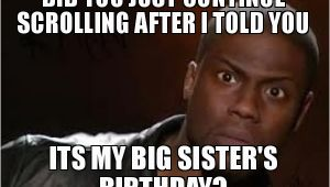 Big Sister Birthday Meme 20 Best Birthday Memes for Your Sister Sayingimages Com