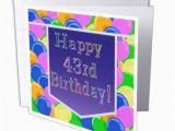 Big W Happy Birthday Banner 3drose Balloons with Purple Banner Happy 43rd Birthday