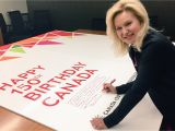Biggest Birthday Card Sign Mississauga S Biggest Birthday Card Canada150 Mayor