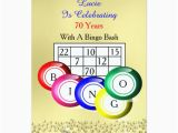 Bingo Birthday Invitations Fun Colourful Bingo themed Party Card Zazzle Com Au