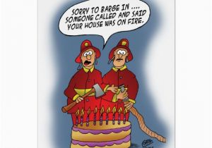 Birthday Alarm Greeting Cards Funny Fire Card Zazzle Com