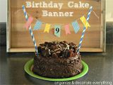 Birthday Banner On Cake Birthday Cake Banner organize and Decorate Everything
