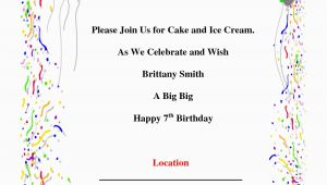 Birthday Bash Invitations Templates Invitations for Birthday Party Template Resume Builder