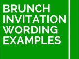 Birthday Brunch Invitation Wording Samples 12 Brunch Invitation Wording Examples Brunch Invitation