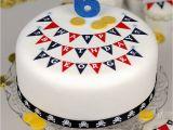 Birthday Cake Decorating Kits Pirate Bunting Birthday Cake Decorating Kit by Clever
