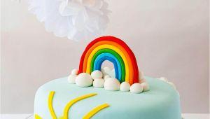 Birthday Cake Decorating Kits Rainbow themed Diy Birthday Cake Decorating Kit for Kids