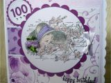Birthday Card 100 Years Old Crafty Creations by A J 100 Years Old Birthday Card