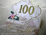 Birthday Card 100 Years Old Crafty Creations by A J 100 Years Old Wow