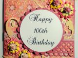 Birthday Card 100 Years Old Time to Create Happy 100th Birthday and Magnolia Candy